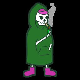 Carácter conjunto de fumar parca