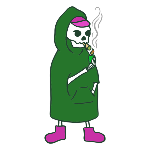 Grim reaper smoking joint character Transparent PNG
