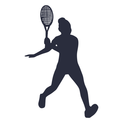 Silueta de deporte de jugador de tenis de mujer