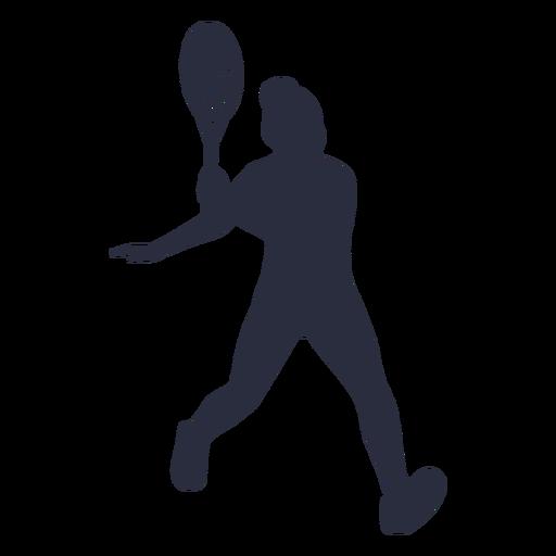 Woman tennis player sport silhouette