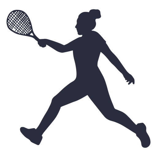 Woman tennis player running silhouette Transparent PNG