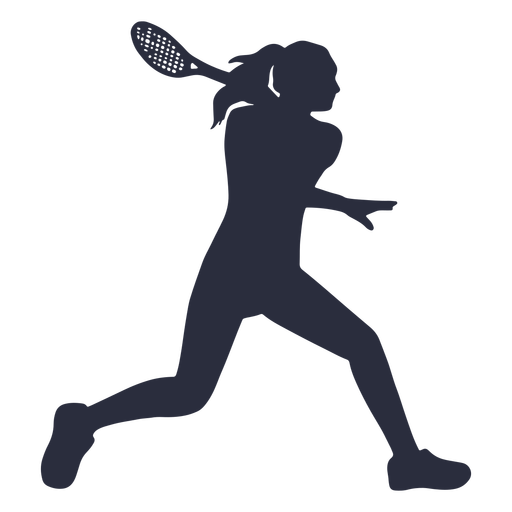 Female tennis player sport silhouette Transparent PNG