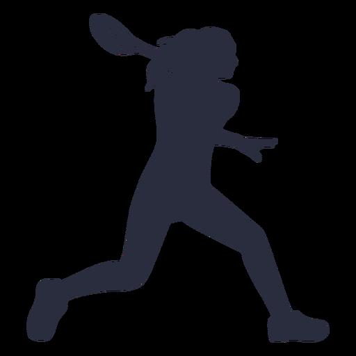 Silueta de deporte de jugador de tenis femenino