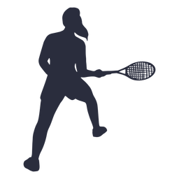 Female tennis player pose silhouette