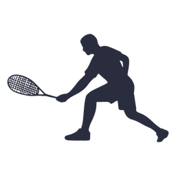Male tennis player playing silhouette