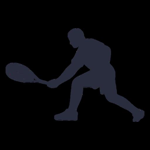 Jugador de tenis masculino jugando silueta