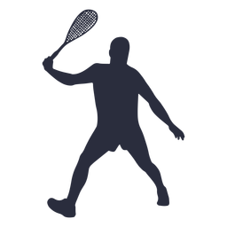 Man playing tennis sport silhouette
