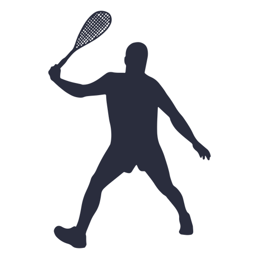 Man playing tennis sport silhouette Transparent PNG