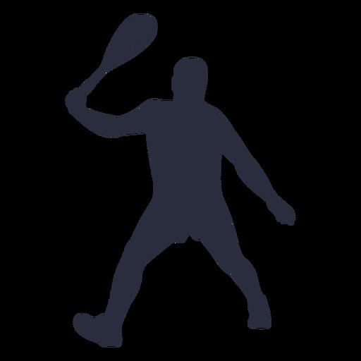 Man playing tennis sport silhouette
