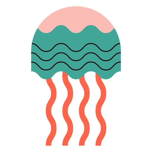 Jellyfish wavy flat