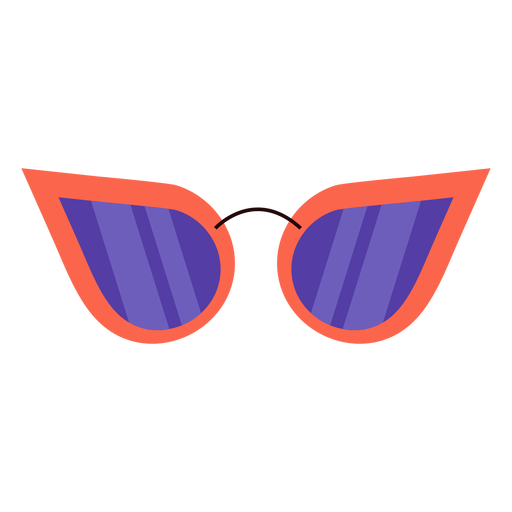 Vintage woman sunglasses flat