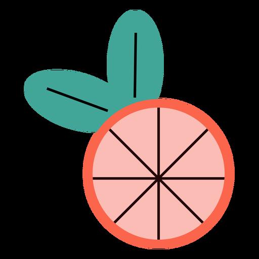 Grapefruit summer flat Transparent PNG