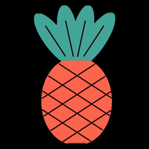 Pineapple summer flat Transparent PNG