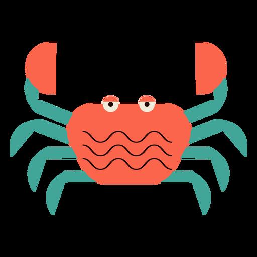 Crab sea animal flat