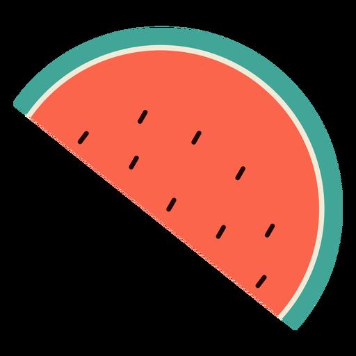 Watermelon half flat