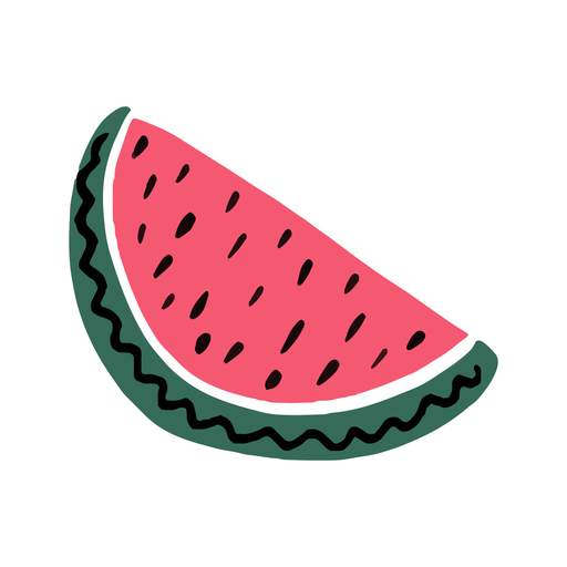Watermelon summer flat Transparent PNG