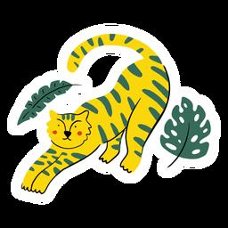 Plano de la naturaleza del tigre
