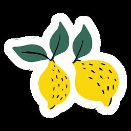 Lemon fruit healthy flat