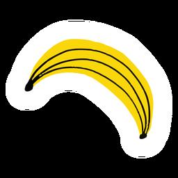 Plátano fruta sana plana