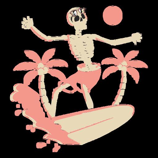 Esqueleto de surf tropical