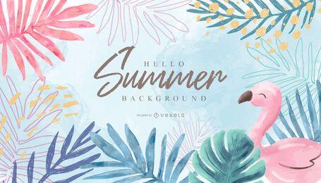 Hola diseño de fondo de verano