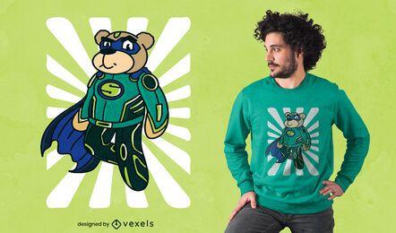 Diseño de camiseta de super oso