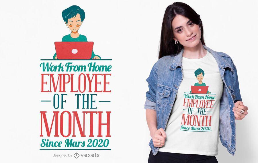 Home office employee t-shirt design