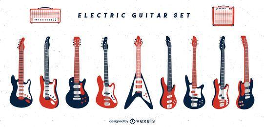 Conjunto de instrumentos de guitarra elétrica
