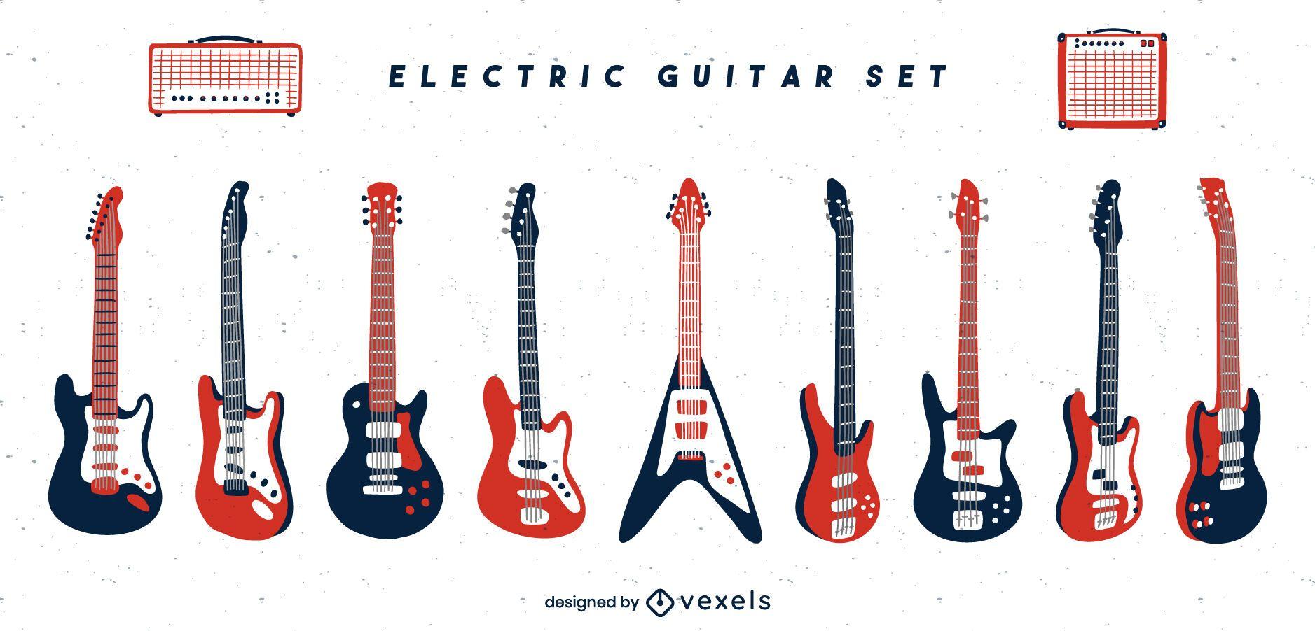 Conjunto de instrumentos de guitarra el?ctrica
