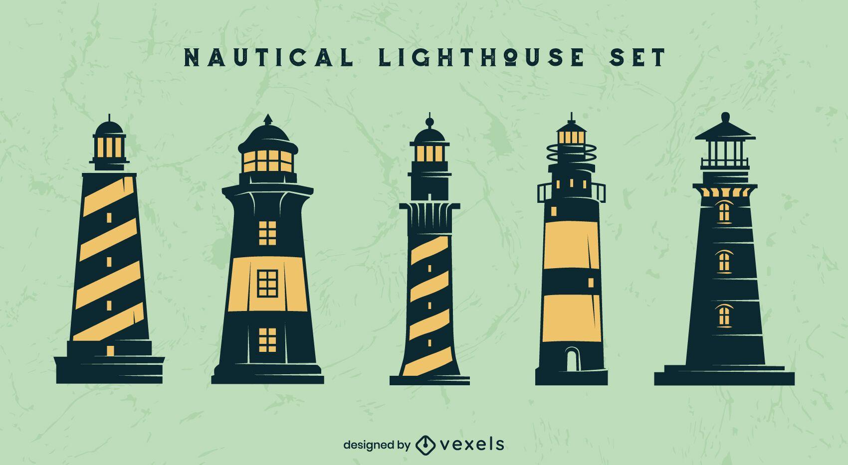 Nautical lighthouse element set