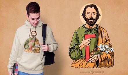 Saint joseph t-shirt design