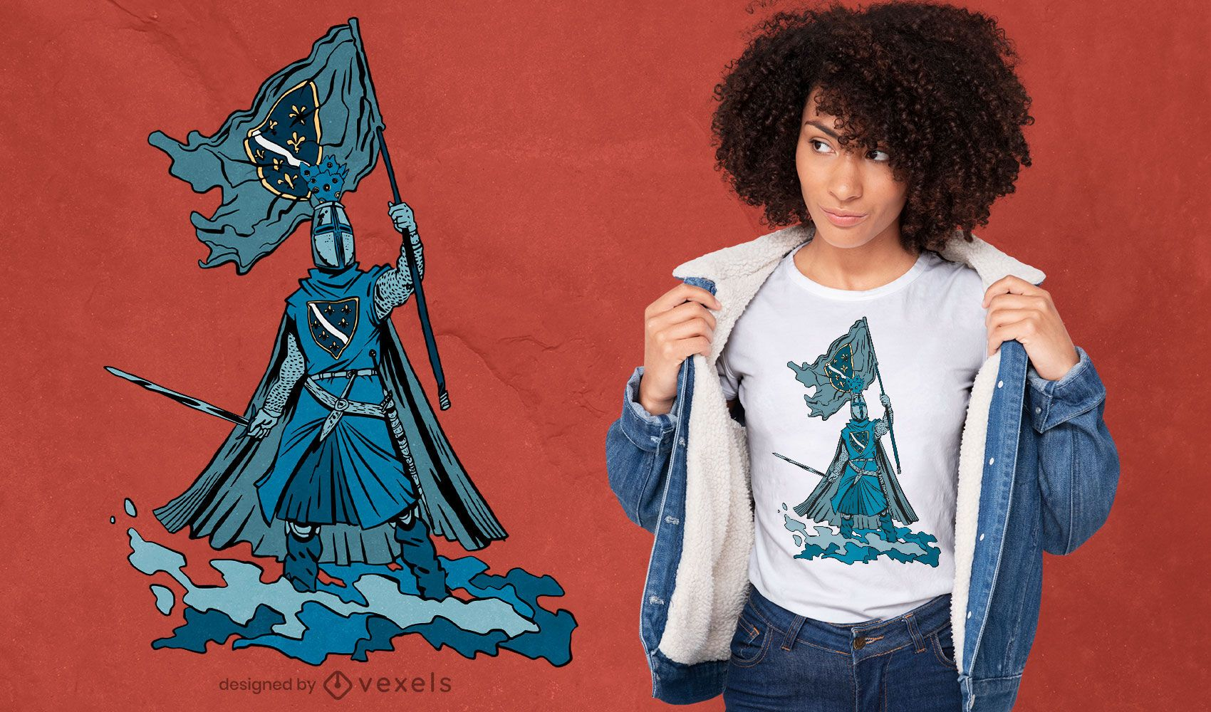 Bosnian knight t-shirt design
