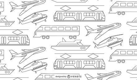 Design de padrão de linhas finas de veículos