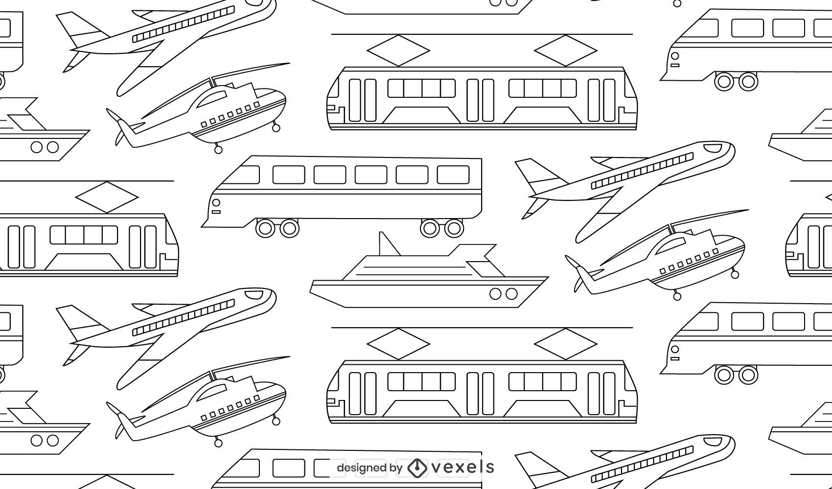 Vehicles thin-line pattern design