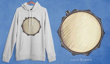 Diseño de camiseta de tambor
