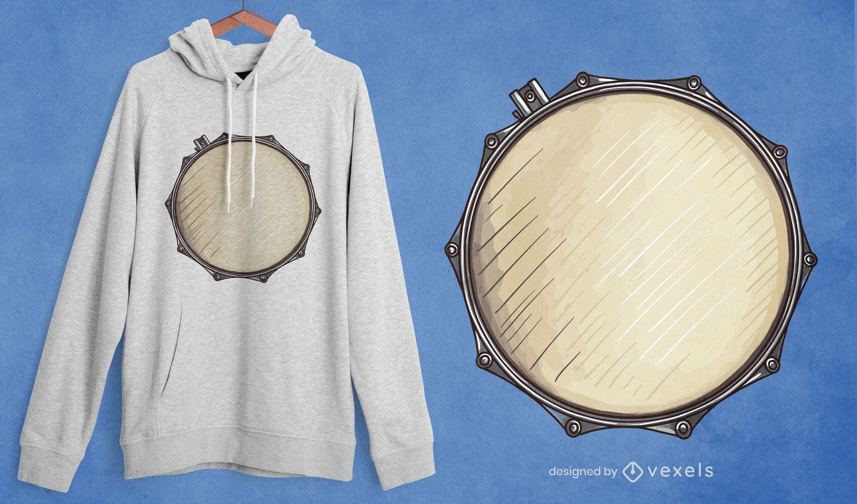 Snare drum t-shirt design
