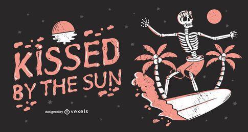 Besado por el sol, diseño de ilustraciones.