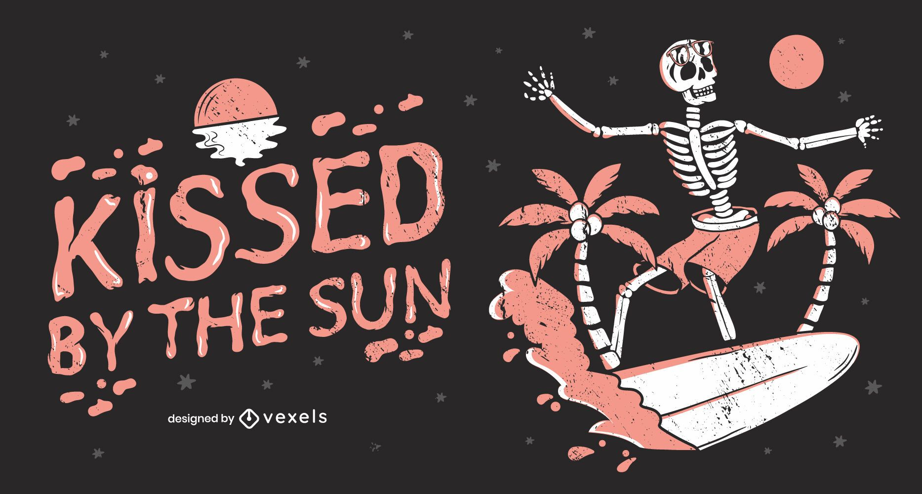 Kissed by the sun illustration design