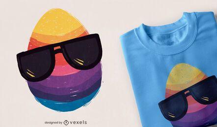 Diseño de camiseta de gafas de sol de huevo de Pascua.