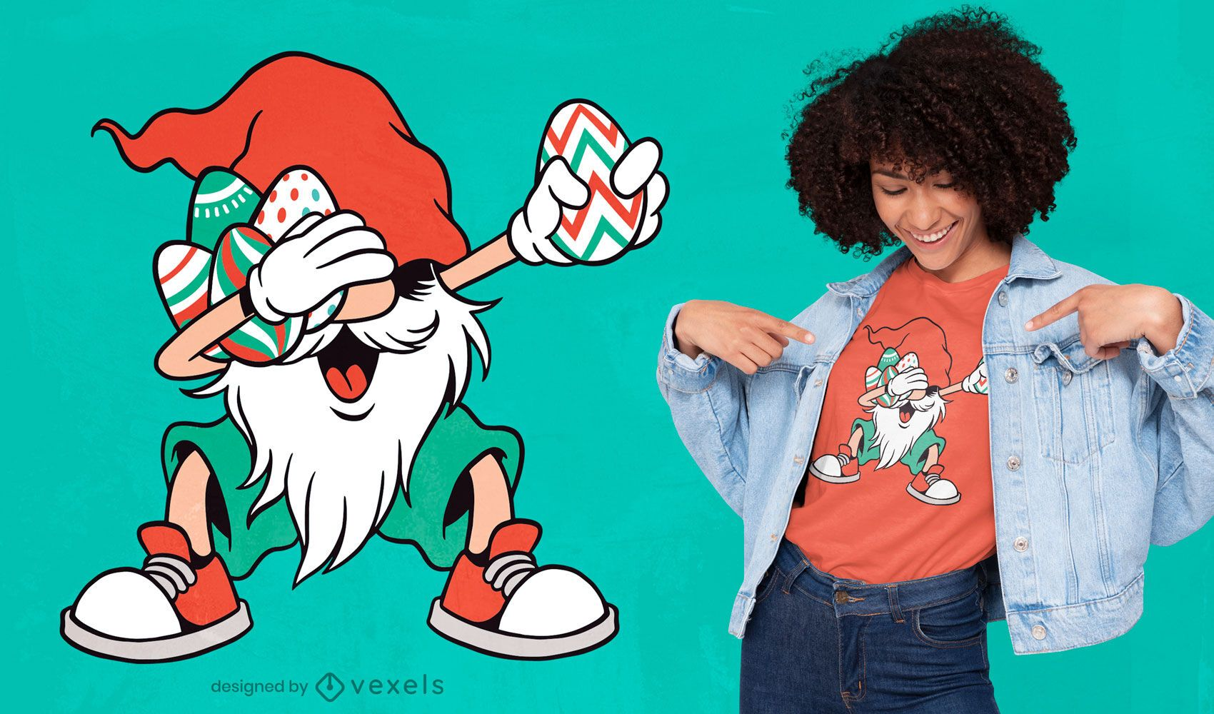 Dabbing gnome t-shirt design