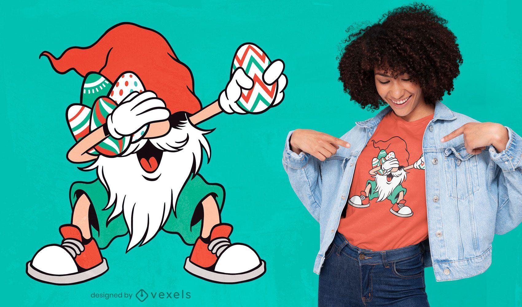 Dise?o de camiseta dabbing gnome