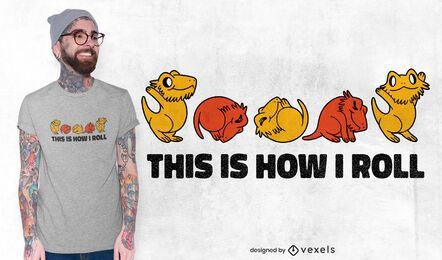 Design de camiseta com citação de dragão barbudo