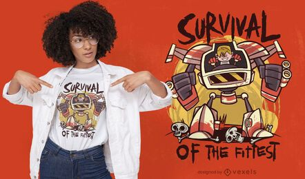 Diseño de camiseta de robot infantil