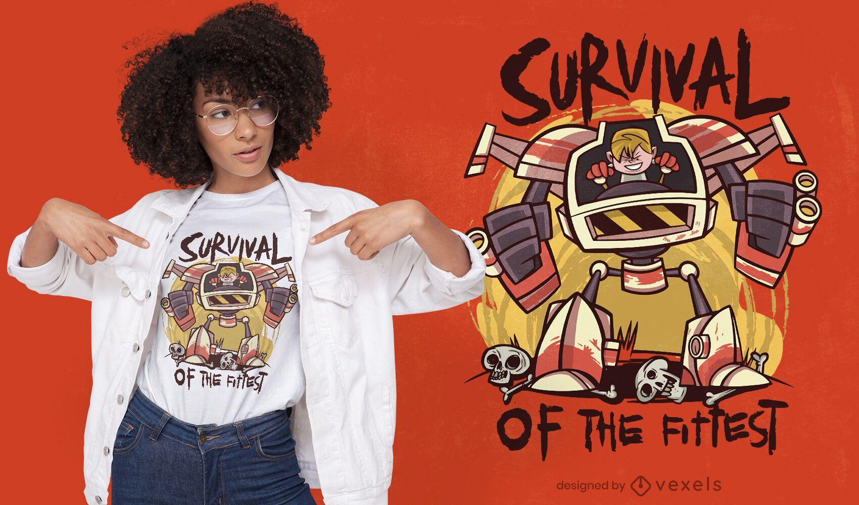 Kid robot t-shirt design