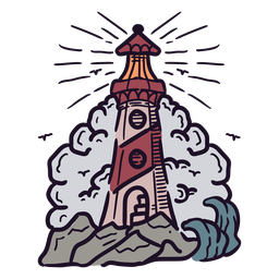 Lighthouse light illustration