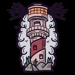 Tall lighthouse illustration