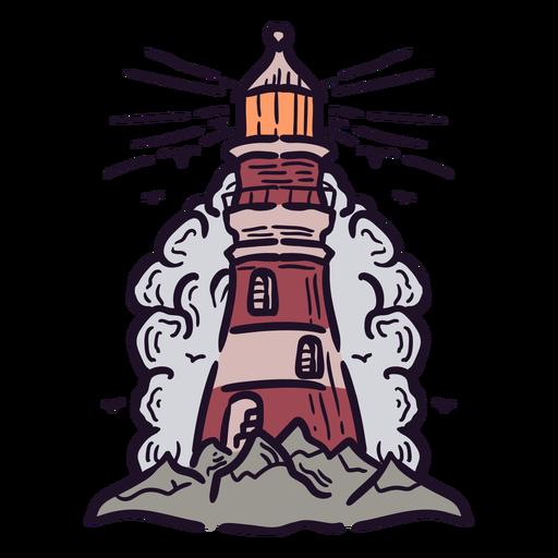 Lighthouse shine illustration