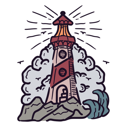 Lighthouse tower illustration