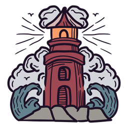 Lighthouse colorful