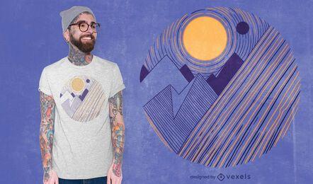 Design de camisetas com paisagem de montanhas